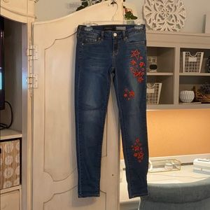 Aeropostale embroidered jeans